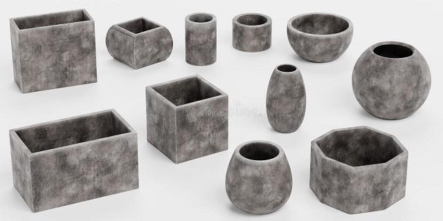 Common types of concrete pots