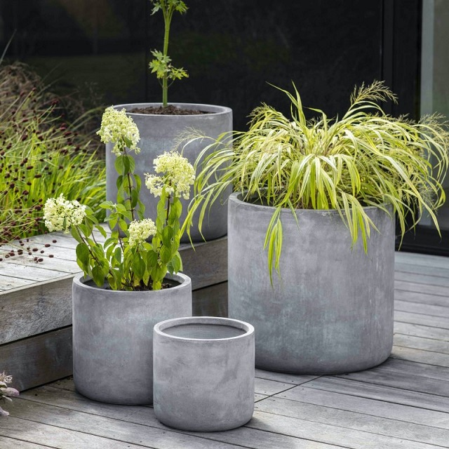 The most beautiful cement pot models